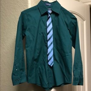 Boys dress shirt and tie